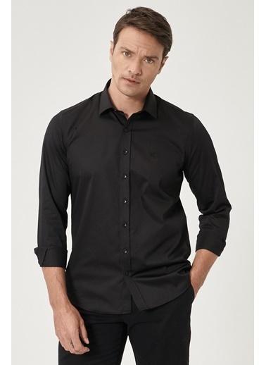 Beymen Business 4B2000000011 Slim Fit Gömlek Saten Siyah